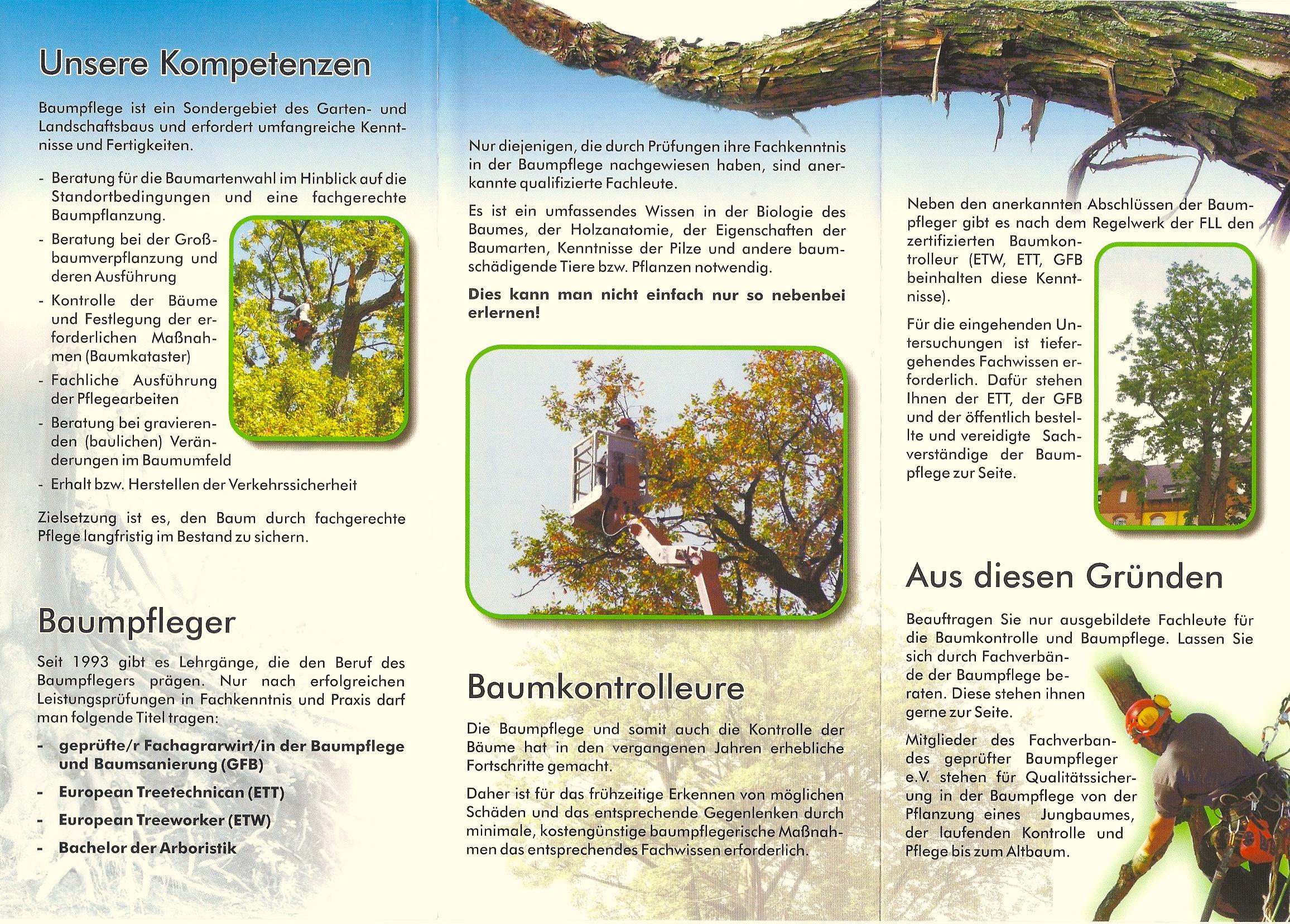 Garten Und Landschaftsbau Flyer: Schleiblatt